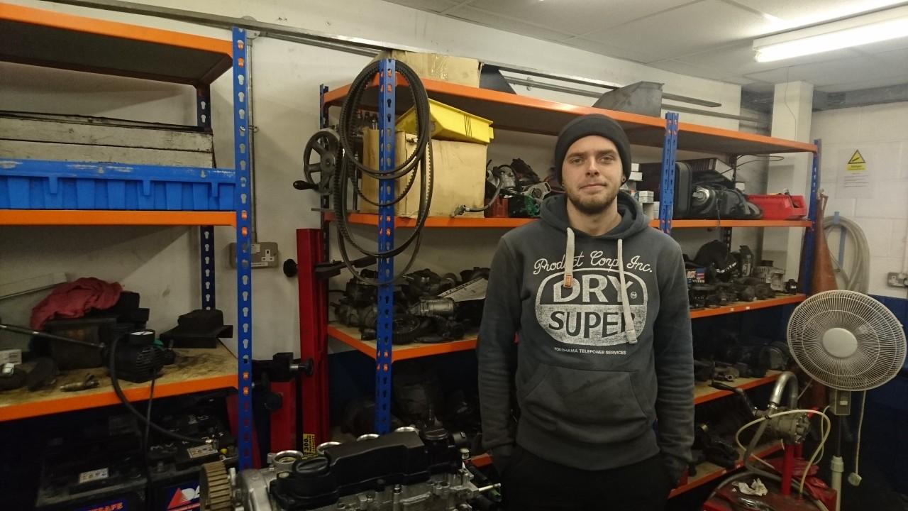 Alfie Edwards - Motor Vehicle Apprentice