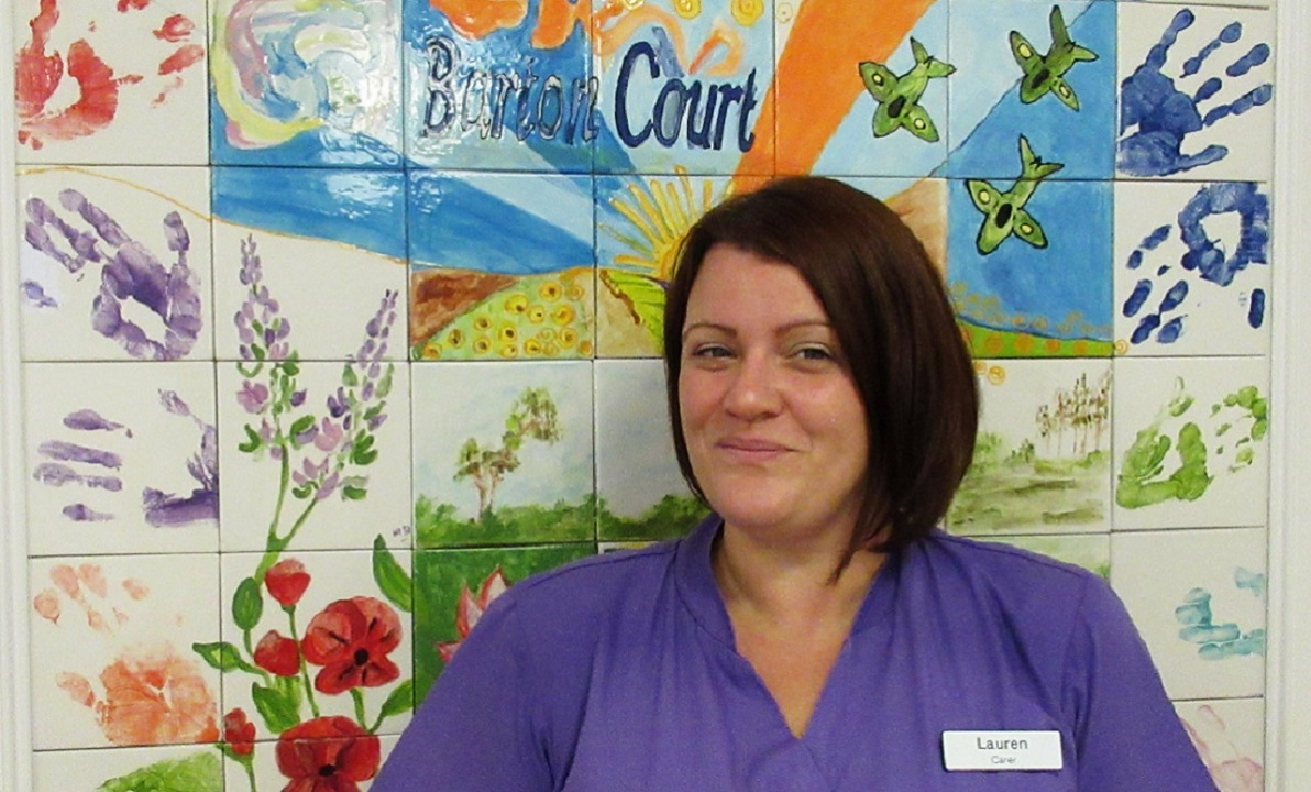 Lauren Beck Health and Social Care Apprentice at Barton Court