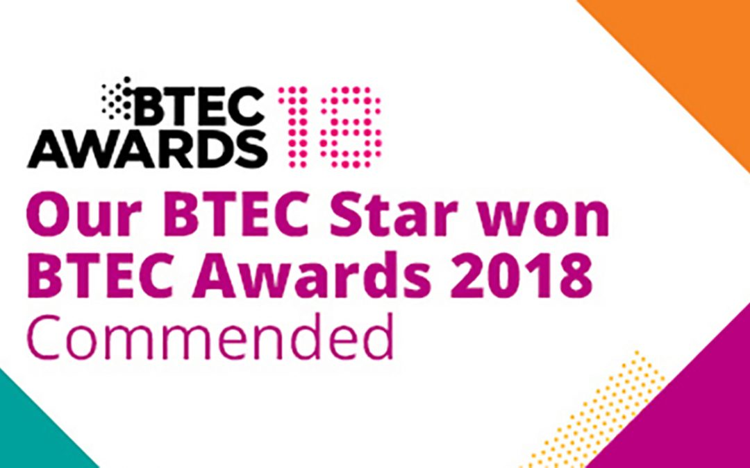 Commended Apprentices in the BTEC Awards 2018