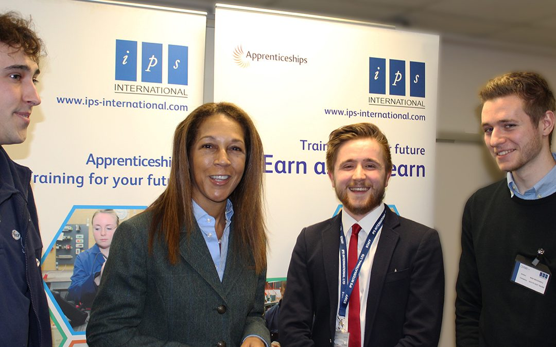 Helen Grant MP visit to IPS for National Apprenticeship Week 2018