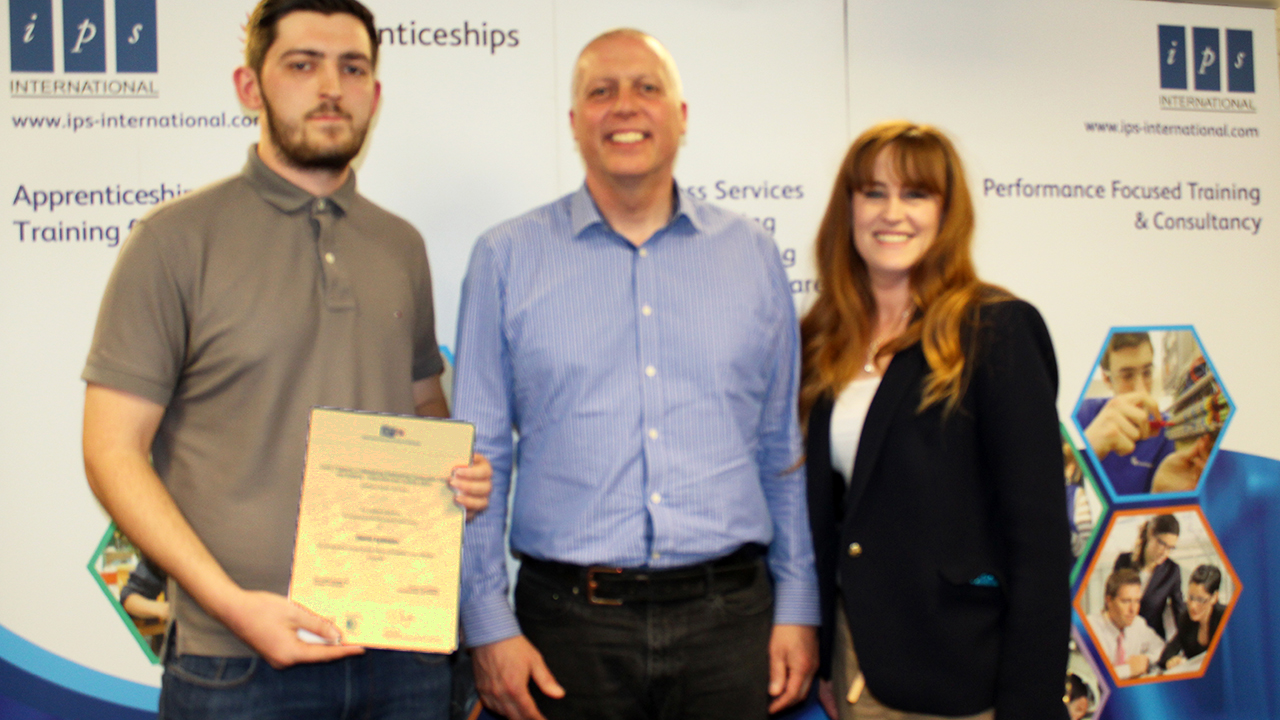Dan Eydman, Jon Marks Z-Tech Employer and Kelly Tolhurst MP.