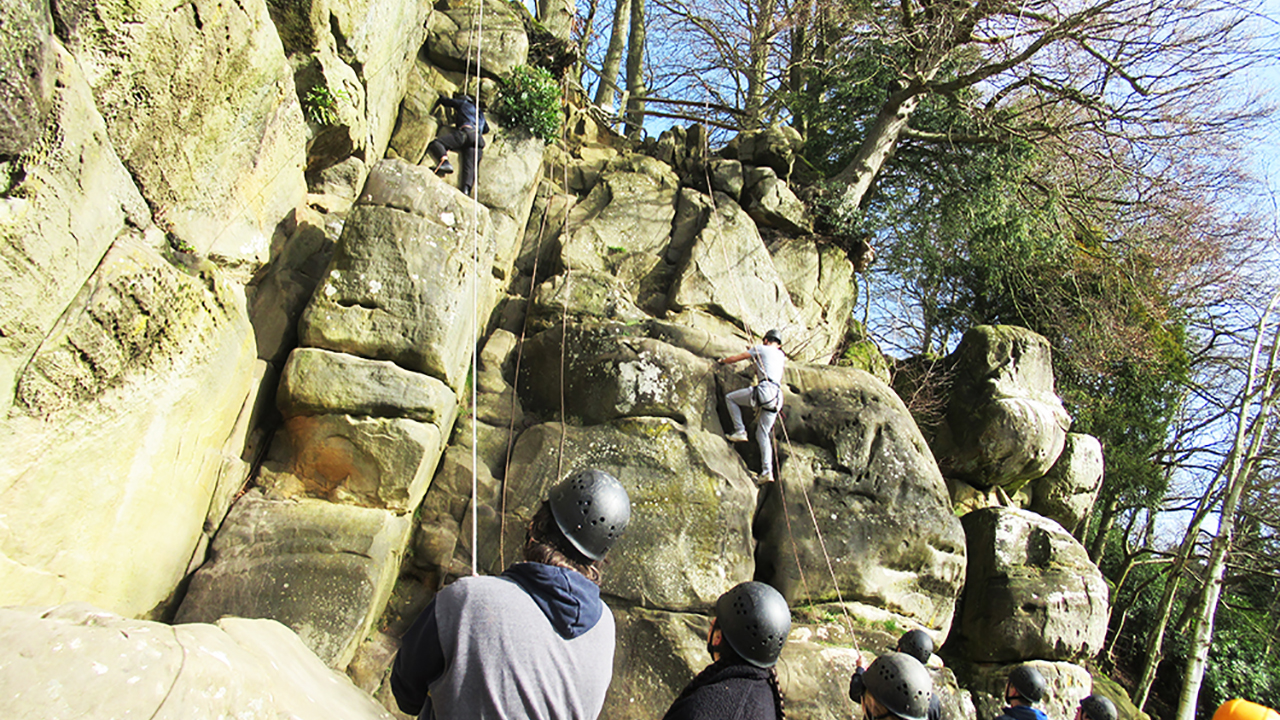 IPS/ BAE Systems Engineering Apprentices Personal Development Week Rock Climbing Activity