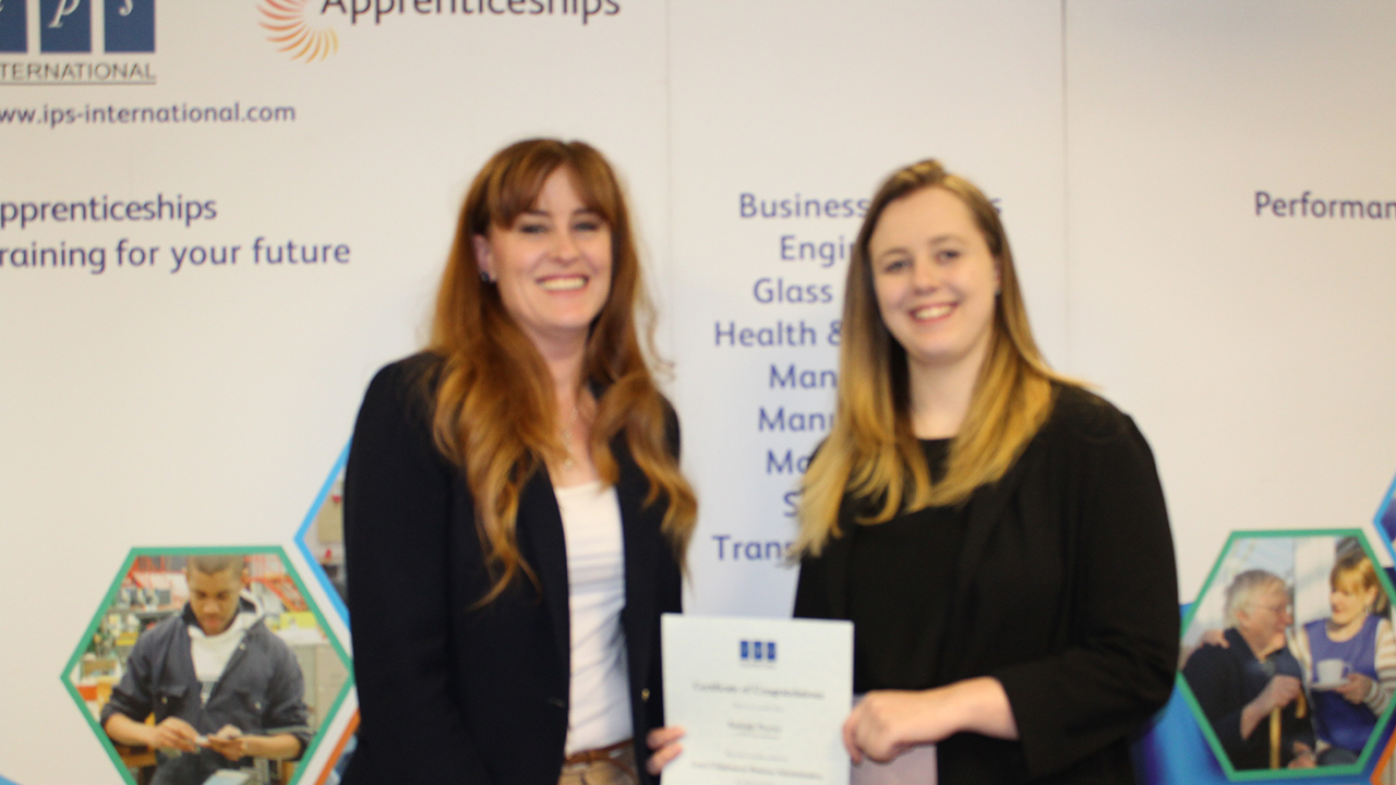 Kayleigh IPS Business Admin Apprentice and Kelly tolhurst MP