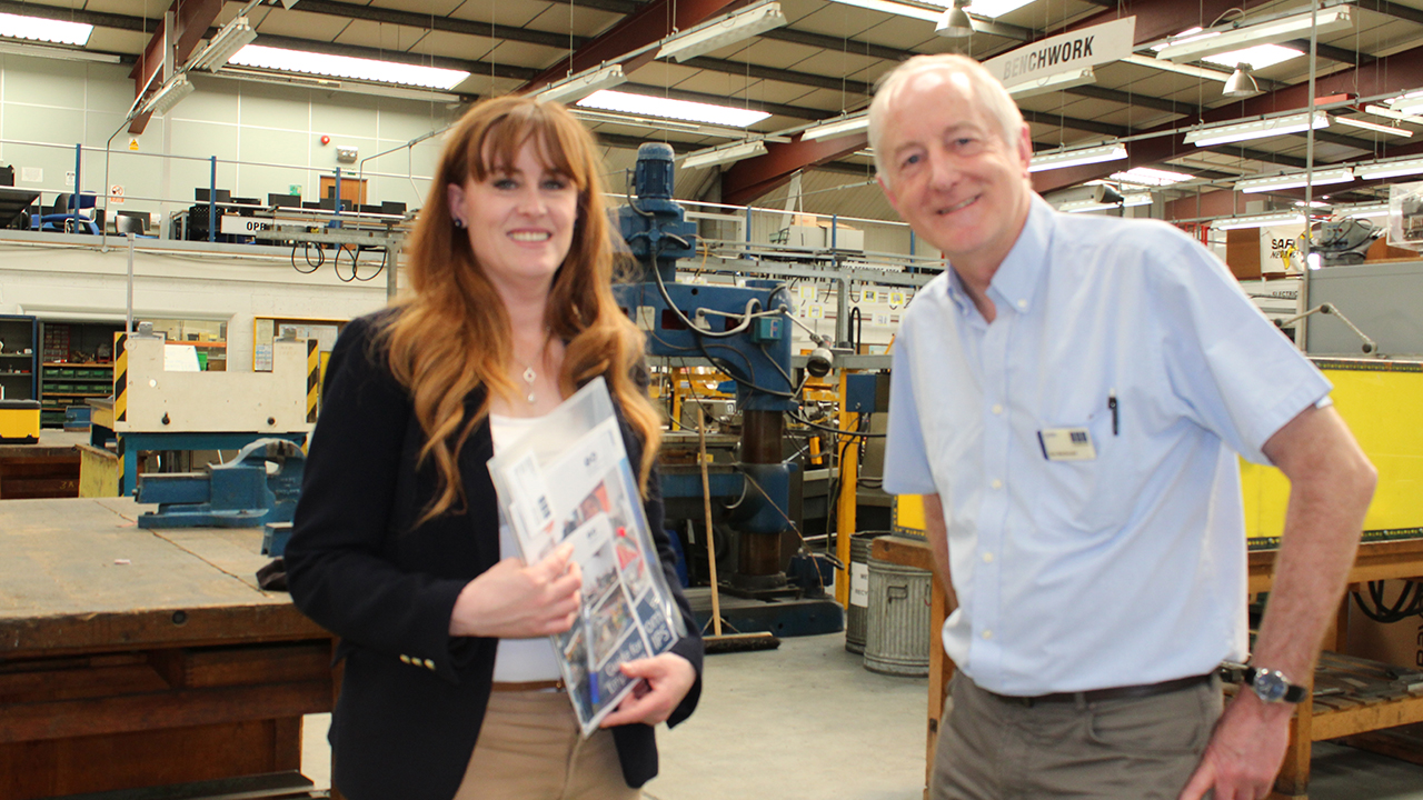 Kelly Tolhurst MP and IPS Director Don MacDonald in the IPS Workshop